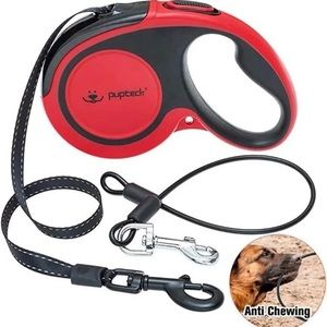 Anti-Chewing Retractable Dog Leash, 16ft Red Walk